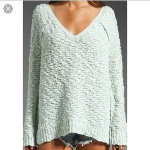 Free people songbird pullover mint